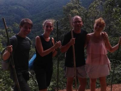 Two days one night trekking with Andreas and Katharina Christine,Emmanuel couple  | Chiang Mai Trekking | Le meilleur trekking à Chiang Mai avec Piroon Nantaya